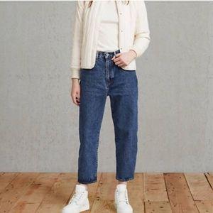 Womens Levis Barrel Crop High Rise Jean Size 29